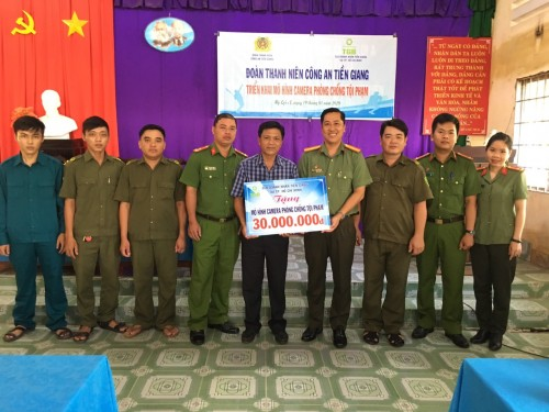 CTY TNHH Dây Cáp Điện Vĩnh Thịnh tài trợ camera phòng chống tội phạm cho Đoàn Thanh Niên Công An Tiền Giang